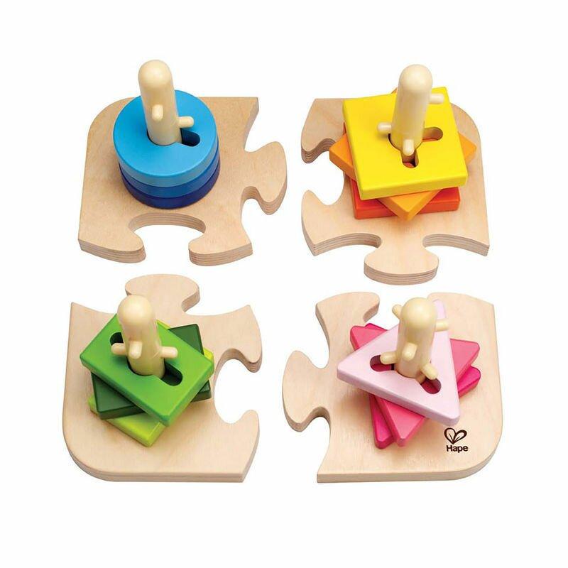 Hape Kreatives Steckpuzzle Holzspielzeug