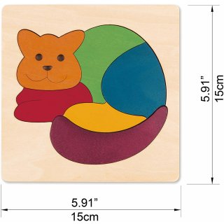 Puzzle Collection Regenbogenkatze - George Luck, HAPE E6500