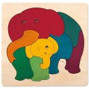 Puzzle Collection Regenbogenelefant & Baby - George Luck,...