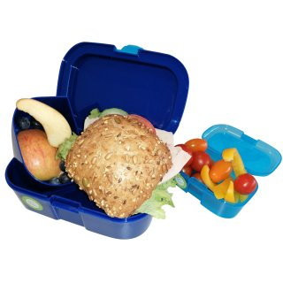 Brotdose Lunchbox + Mini Snackbox im Set - Delfine - Lutz Mauder